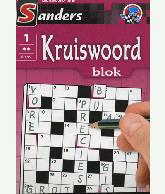 Kruiswoord puzzelblok 2 ster