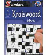 Kruiswoord puzzelblok 3 ster