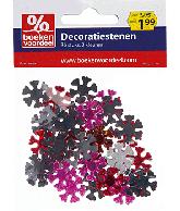 Decoratiestenen rood-goud xmas