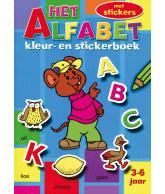 Kleur- en stickerboek Cijfers/Alfabet/Vormen