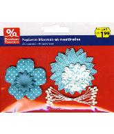 Papieren bloemen blauw - Party2013