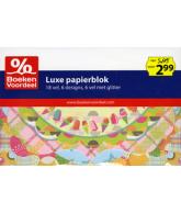 Luxe papierblok met diverse vormen Party2013