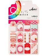 CU13 Papierblok Labels Roze