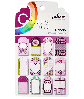 CU13 Papierblok labels paars