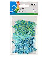 CU13 Strikjes blauw-groen