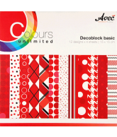 CU13 Papierblok 15x15 basis rood