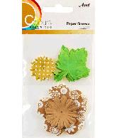 CU13 Papieren bloemen bruin