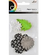 CU13 Papieren Bloemen Zwart-Wit