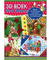 A4 3D boek kerst modern