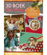 A4 3D boek kerst vintage