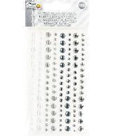 Plakparels/glitterstenen Zilver