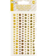 Plakparels Glitterstenen Goud