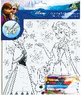 Frozen - puzzel om zelf te kleuren (21x21 cm)