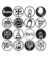 Embossing folder Party Cirkels