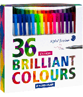Staedtler Triplus Fineliner 36 Brilliant Colours