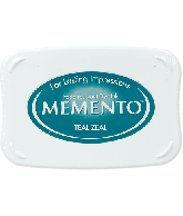 MEMENTO INK PAD TEAL ZEAL