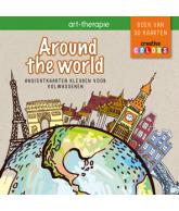 Around the world Ansichtkaarten kleuren voor volwassenen