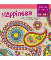 HAPPINESS - ANSICHTKAARTEN KLEUREN VOOR VOLWASSENEN