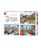 Puzzle 3 in 1 City collection 1000 pcs