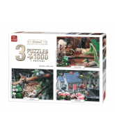 Puzzle 3in 1 Animal collection 1000 pcs