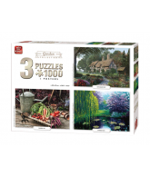 Puzzle 3 in 1 Garden collection 1000 pcs