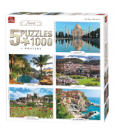Puzzle 5 in 1 Travel 1000 pcs