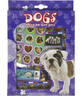 Sticker gift box Honden