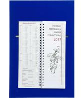 Omlegweek kalender 2017 Effen Blauw