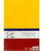 Hobbykarton A4 - 13 citroengeel