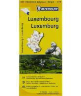 Michelin Wegenkaart 377, Luxembourg Luxemburg