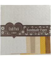 Craft pack Handmade paper ruitjes