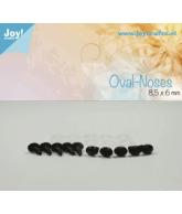 Ovale neus zwart (10stuks)