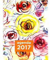 Agenda 2017: Aquarel Flowers Big