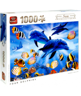 Puzzel four dolphins (1000 stukjes)