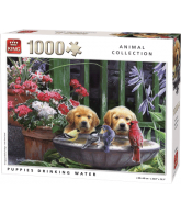 Puzzle Puppies Drinking Water (1000 pcs)
