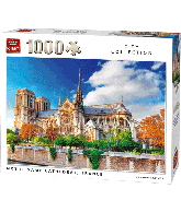 Puzzle Notre Dame de Paris cathedral France (1000pcs)