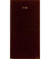 Zakagenda Minitimer staand 2018, kleur bordeaux
