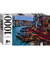 Legpuzzel Gondolas and the grand canal, Venice, Italy 1000 pcs