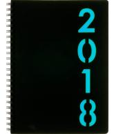 Weekagenda wire-o 2018 lichtblauw