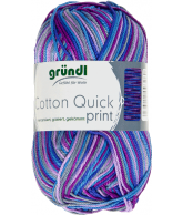 Cotton quick print aubergine multicolor 50 gram