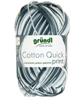 Cotton quick print zwart-grijs multicolor 50 gram