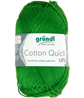 Cotton quick uni donkergroen 50 gram