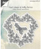 Joy snijmal Heart shape of holly berries