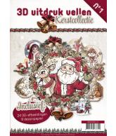 3D Uitdrukvellen boek Kerstcollectie Nummer 1
