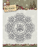Snijmal jingle bells circle frame Celebrating Christmas