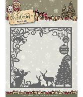 Snijmal square frame scene Celebrating Christmas