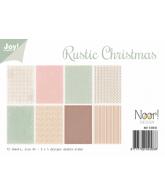JOY papierset A4 design rustic christmas november
