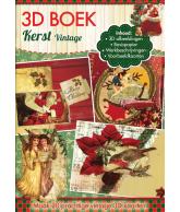 A4 3D boek Vintage kerst