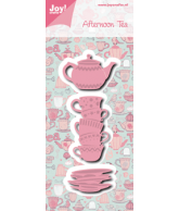 Joy crafts snijmal afternoon tea kopjes + theepot