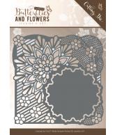 Jeanine's Art snijmal flower frame classic butterflies and flowers
